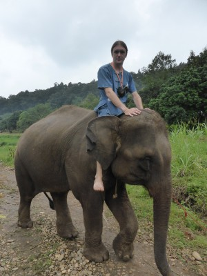 Me and my little elephant!
