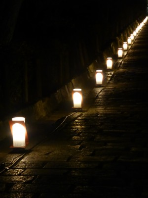 Lantern lined streets